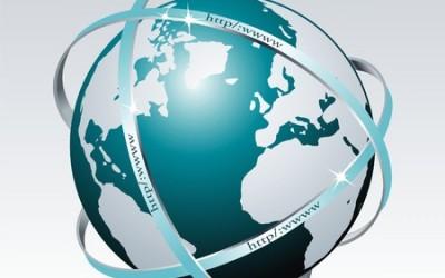 Globus Grafik für Internetrecht und Domainrecht